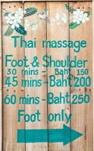 thai massage foot and shoulder