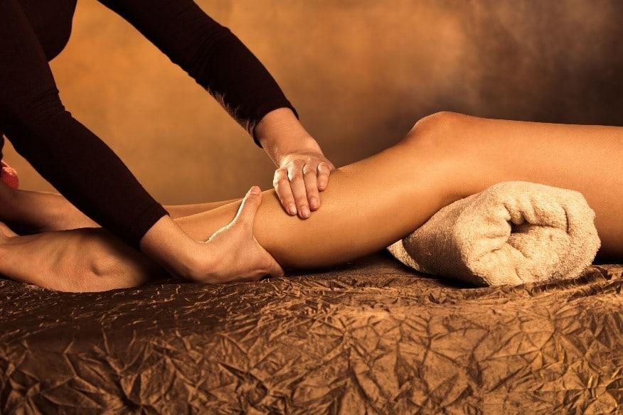 massage minceur avec travail sur les mollets